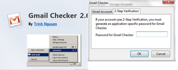 Gmail Checker - Firefox Add-on for managing multiple Gmail Accounts