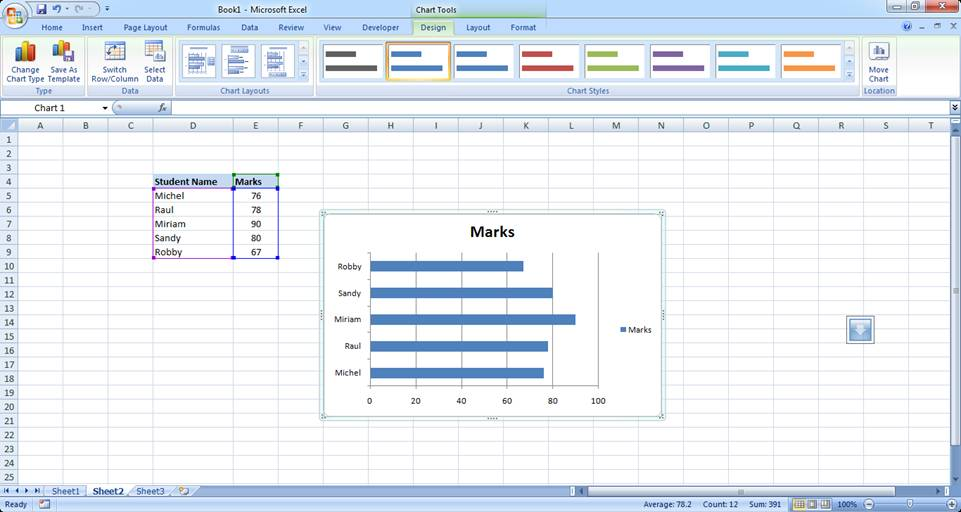 Creating Excel Charts