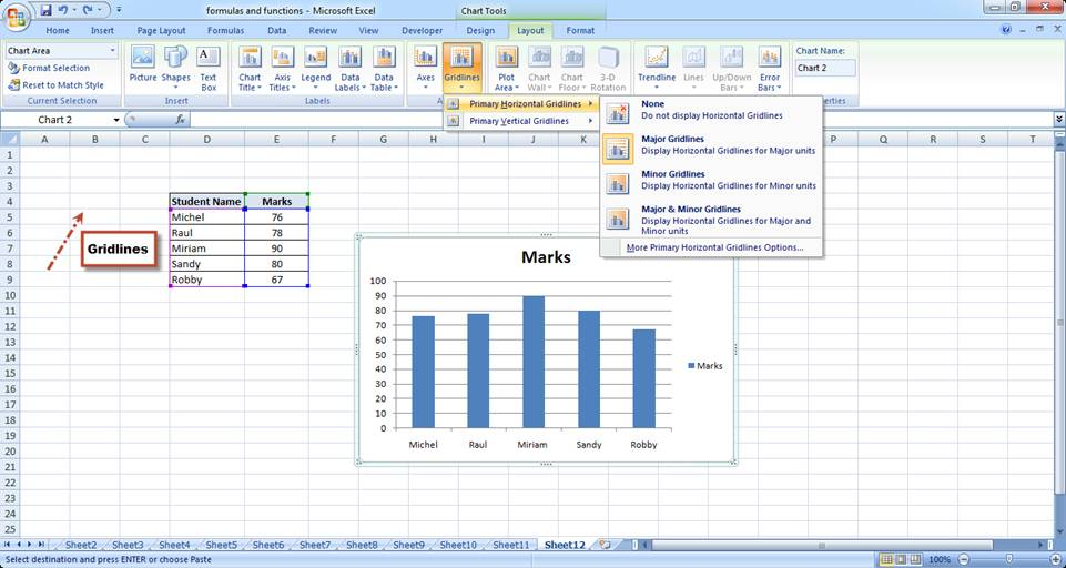 Basic excel chart formatting ms excel charting tutorial part 4 addingremoving data labels ccuart Gallery