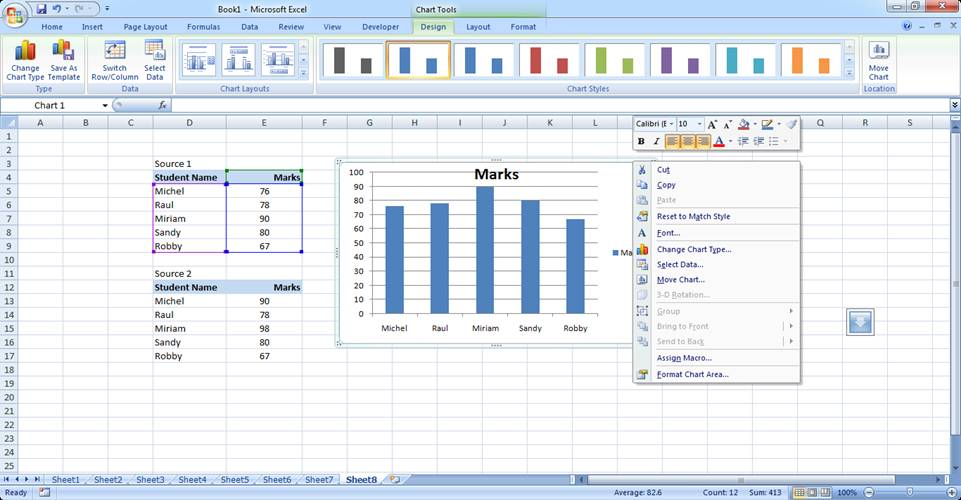 Basic Excel Chart Formatting Ms Excel Charting Tutorial