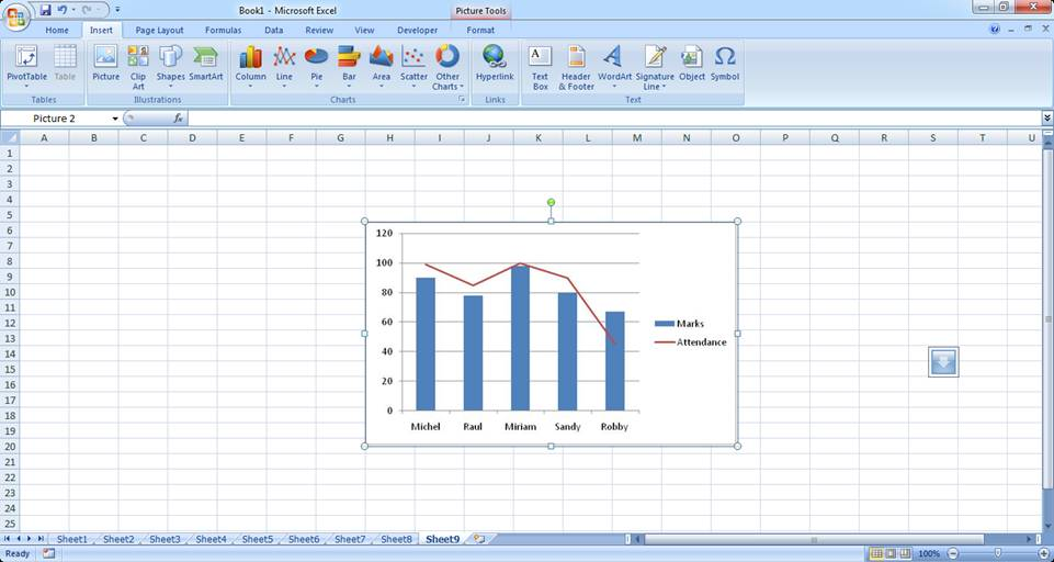 Advanced excel chart formatting ms excel charting tutorial part 5 creating two graphs on the same chart ccuart Images